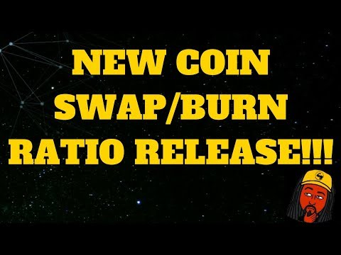 Coin swap ratio burned bug cryptocurrency