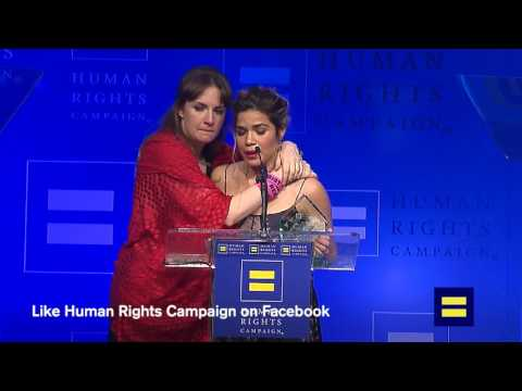 #HRCLADinner: America Ferrera and Lena Dunham