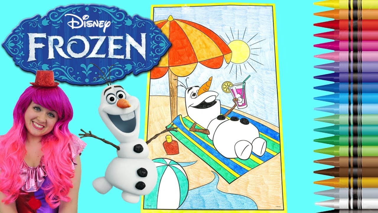 Coloring Olaf Disney Frozen GIANT Coloring Book Page Crayola Crayons ...