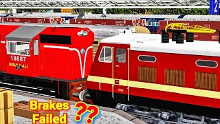 Brakes FAILED Of Falaknuma Exp Loco || Rescue At Guntur Jn By WAP4 || SCR Action MSTS