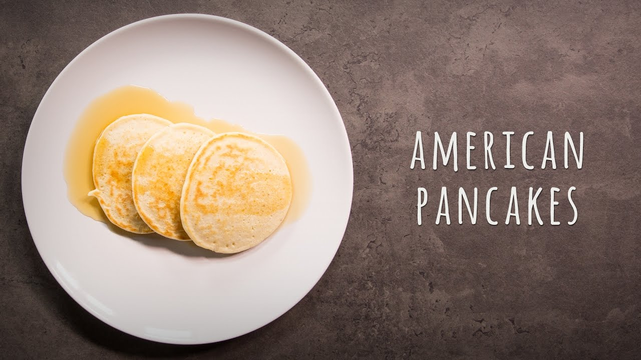 pancakes rezept mit ahornsirup american pancakes youtube. Black Bedroom Furniture Sets. Home Design Ideas