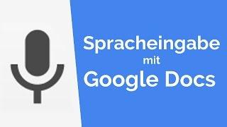 Spracheingabe mit Google Docs
