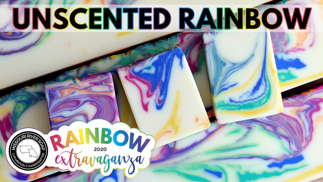 Unscented Rainbow Soap | RAINBOW EXTRAVAGANZA 2020 | MO River Soap