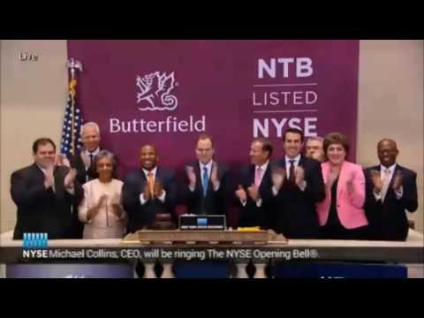 Butterfield Bank Rings Bell At  New York Stock Exchange, Sept 16 2016