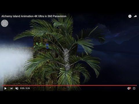 Alchemy Island Animation 4K Ultra in 360 Panavision