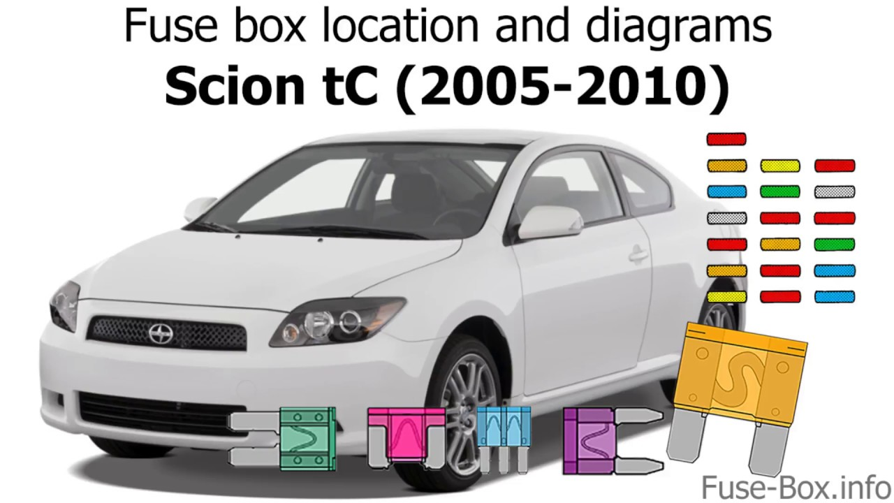 fuse box location and diagrams scion tc 2005 2010  [ 1280 x 720 Pixel ]
