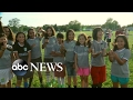 Soccer girl's teammates cut their hair in solidarity