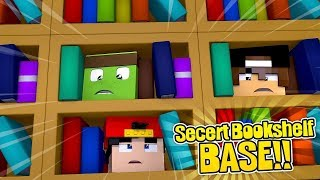 MINECRAFT SECRET BASE - How to build a base in a secret bookshelf!