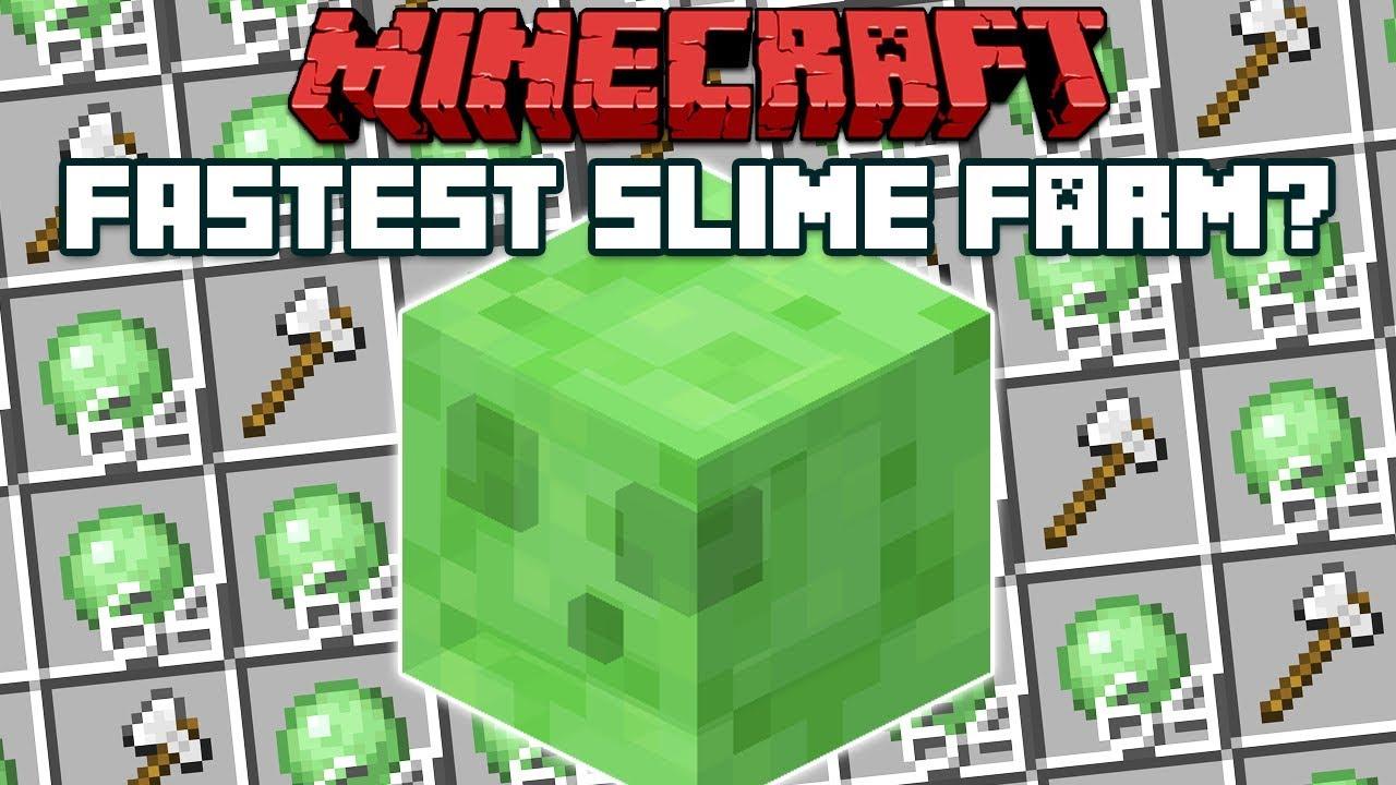 Minecraft 1 14 Fastest Maybe Slime Farm Youtube
