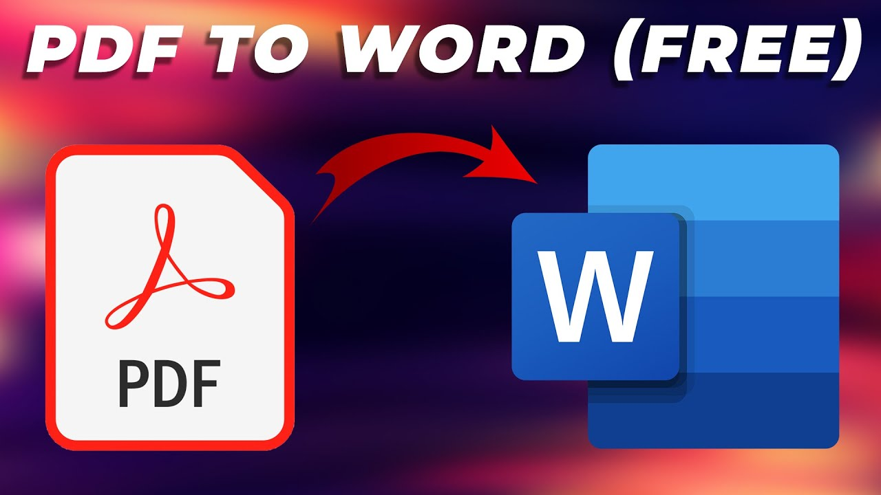 Pdf To Word How To Convert Pdf Files To Word Docs For Free Online And Offline Methods Explained Youtube