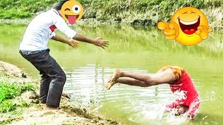 Must Watch new Funny 😀😀 Comedy Video 2019 | Try not to Laugh | Ep -04 | Pagla Baba Fun