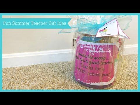 Fun Summer Teacher Gift    June 10th 2016