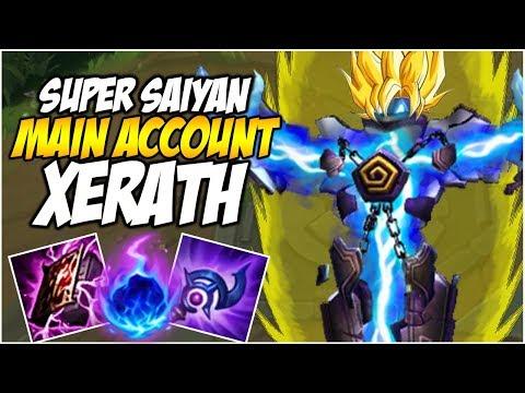 SUPER SAIYAN XERATH  - SEASON 8 Climb to Master | League of Legends