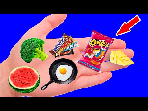 14 NEW DIY BARBIE MINIATURE REALISTIC FOOD AND DRINKS FOR DOLLHOUSE | Making Easy Crafts Ideas