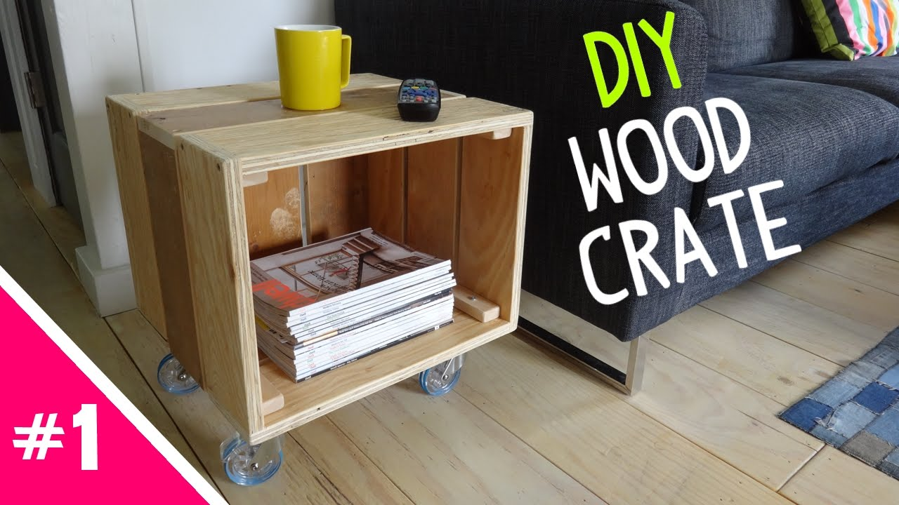DIY Reclaimed Wood Crate Table   Part 1 Of 2