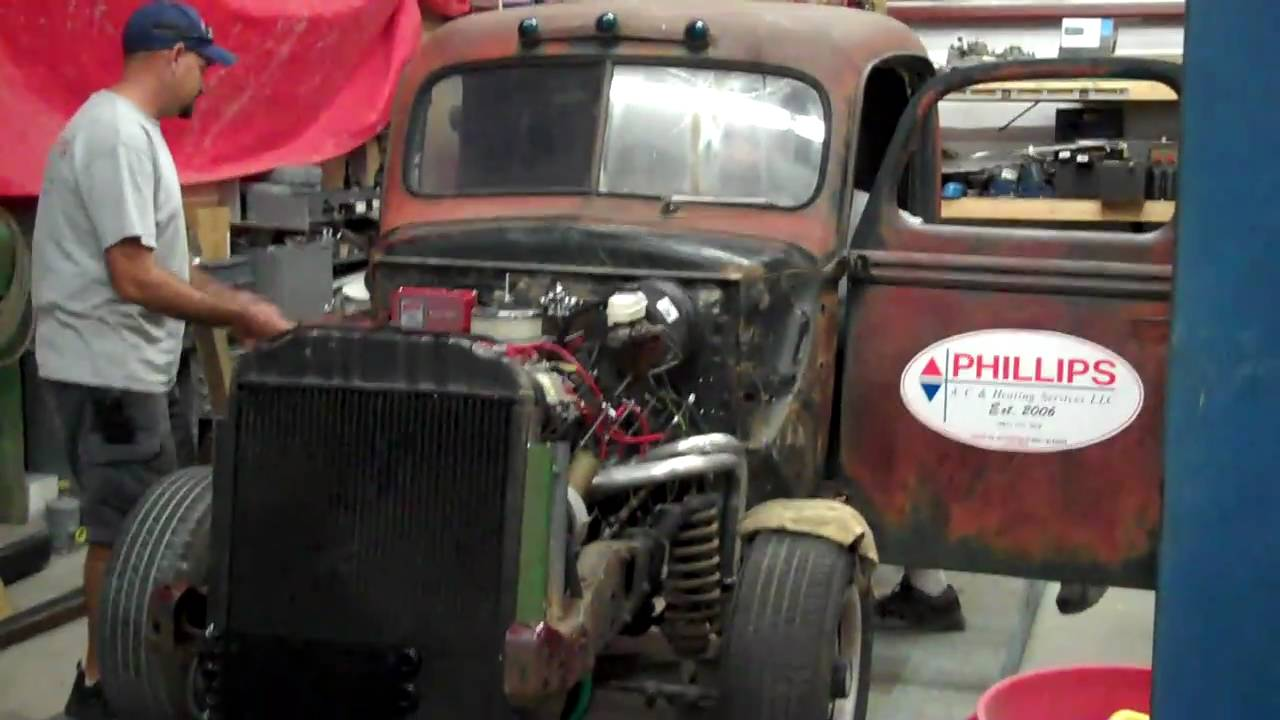 1942 Ford Truck Rat Rod Start Up Youtube