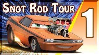 PS3 Cars 2 Game Snot Rod Tour Battle Race Series Walkthrough Part 1 Pipeline Sprint