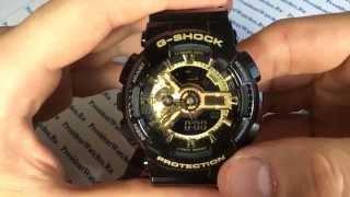 Обзор наручных часов Casio G-SHOCK GA-110GB-1A - видео от Presidentwatches.Ru