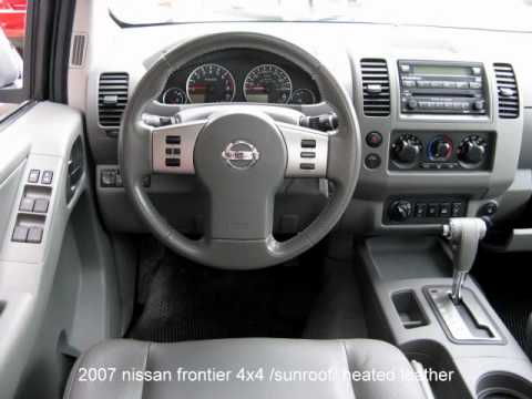 2007 Nissan Frontier Le 4x4 Heated Leather Sunroof