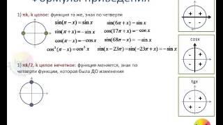 Формулы приведения (Занятие 2-2)