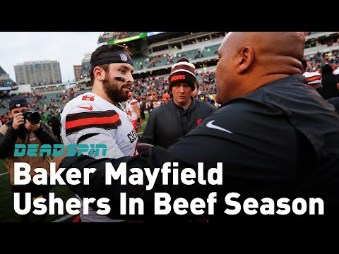 Baker Mayfield Prepares Some Tasty Beef With Hue Jackson