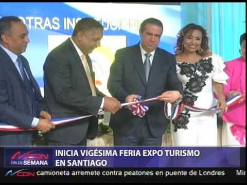 Inicia vigésima Feria Expo Turismo en Santiago