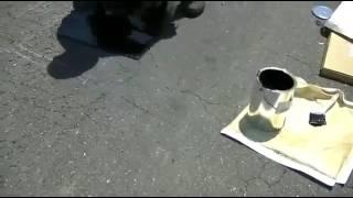 Частичный ремонт дороги в Японии! Partial repair of the road in Japan!
