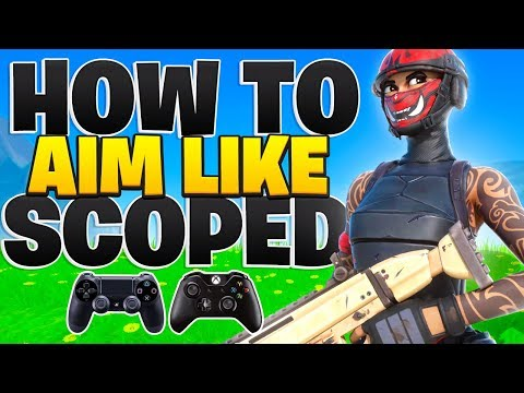 How To Aim Like Scoped On Console - Pro Aim Tips! (Fortnite PS4 + Xbox Tips)