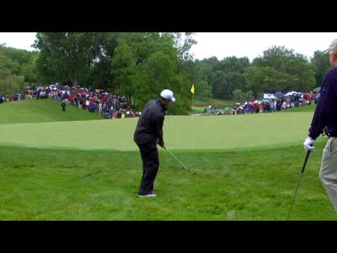 Tiger Woods wins it all in a chipoff at the Memorial Skins Game 2009