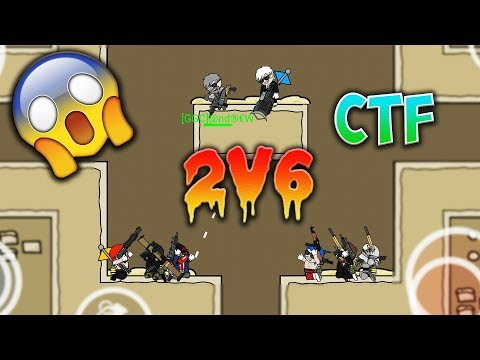 Mini Militia 2vs6 CTF EPIC CHALLENGE !! Capture The FLAG Gameplay!! | Doodle Army 2: Mini Milita #53