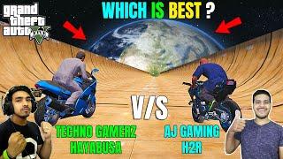 GTA 5 : TECHNO GAMERZ HAYBUSA Vs AJ GAMING NINJA H2R | GTA V GAMEPLAY #91