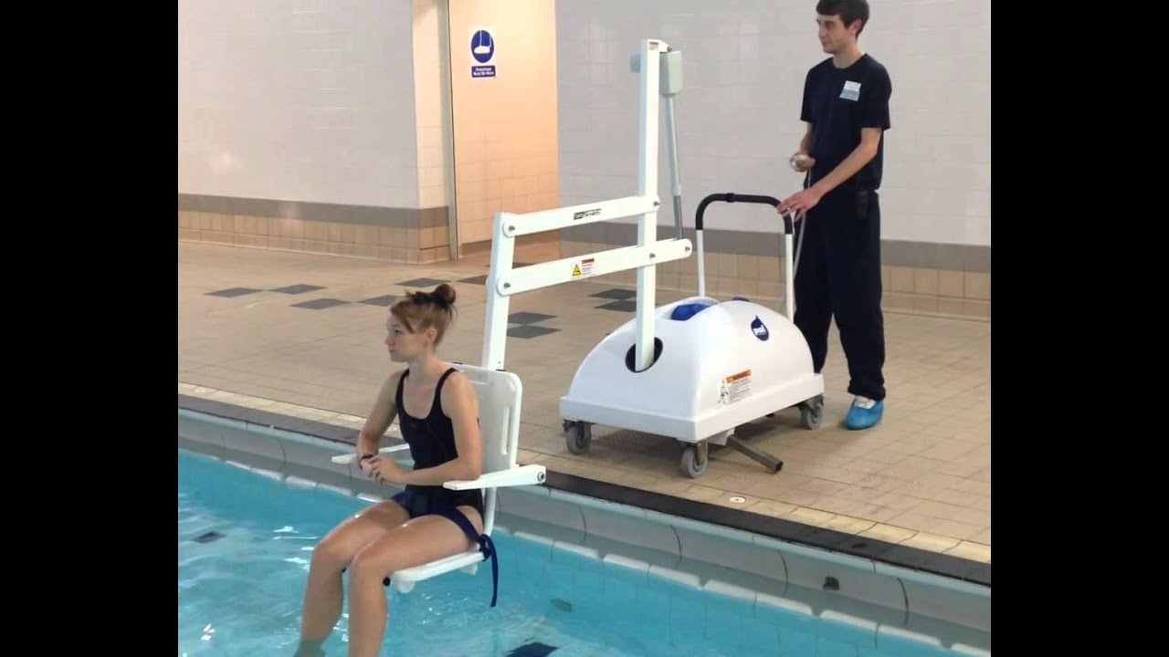 Pal Portable Pool Lift At Runnymede Pool In Essex Youtube