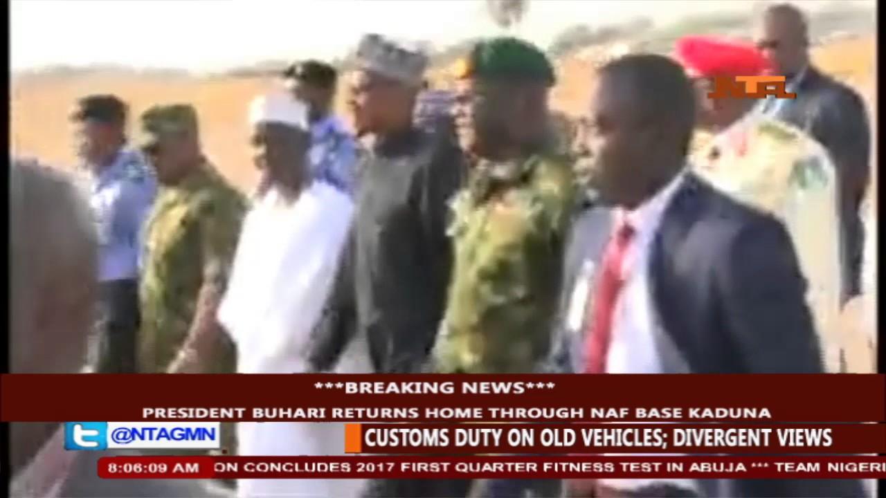 BREAKING: President Muhammadu Buhari Arrives From London