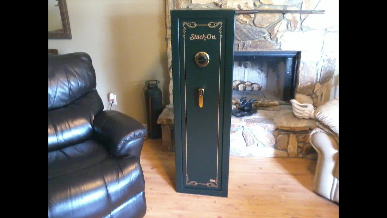 Stack On 8 Gun Safe With Combination Lock Youtube