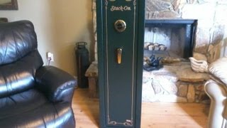 Stack On 8 Gun Safe With Combination Lock