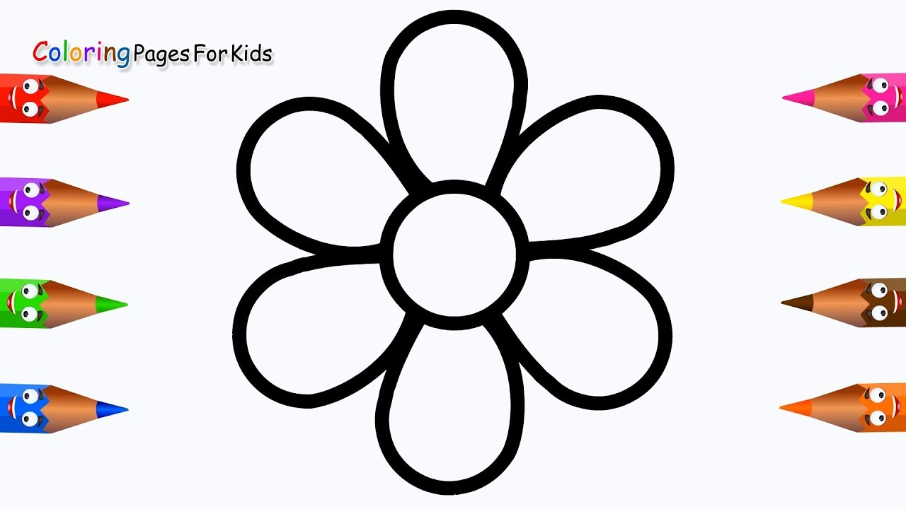 How To Draw Flower Coloring Pages For Kids,Children
