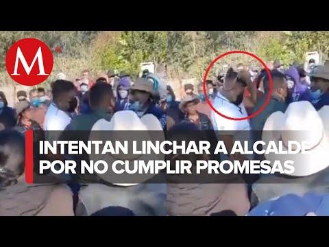 Habitantes intentan colgar a alcalde en Oaxaca, tras acusarlo de corrupción