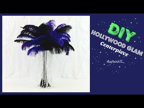 DIY Tall Hollywood Glam Wedding Centerpiece |  Tall Glam Centerpieces | DIY Tutorial