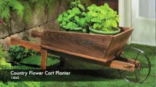 13843 - Country Flower Cart Planter