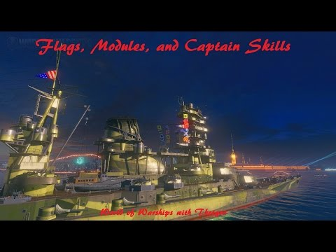 World of Warships- Flags, Modules, and Captain Skills