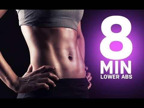 8 Minute Lower Abs Workout (FLATTEN THE LOWER BELLY!!)