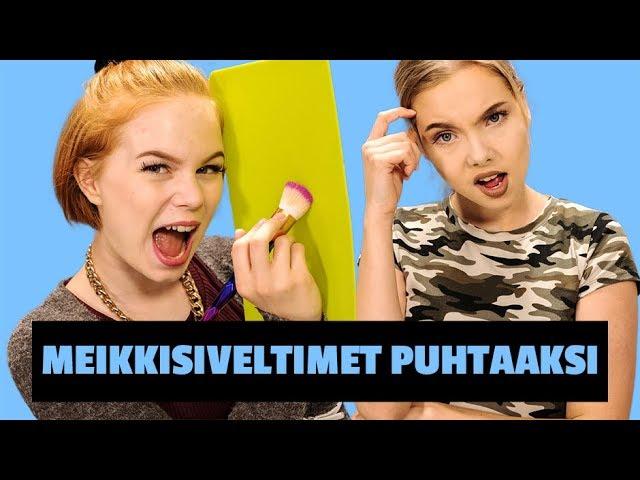 DIY-PUHDISTUSLAUTA MEIKKISIVELTIMILLE   Emma ja Milla testaa