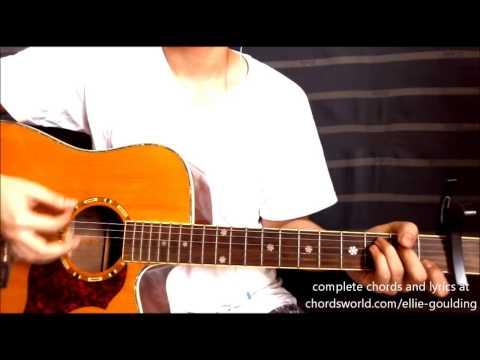 "Burn Chords ""Ellie Goulding"" ChordsWorld.com Guitar Tutorial"