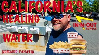 Healing Water Fountain, Cavemen, & CALIFORNIA!!!