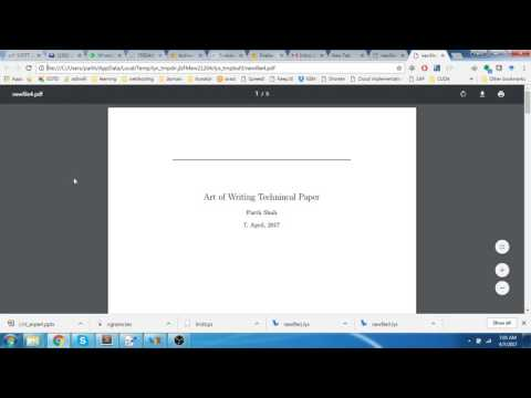 Art of Writing Technical Document Using LyX