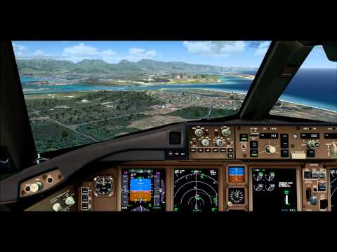 FSX Maxed Out   PMDG 777   Landing At Honolulu International Airport