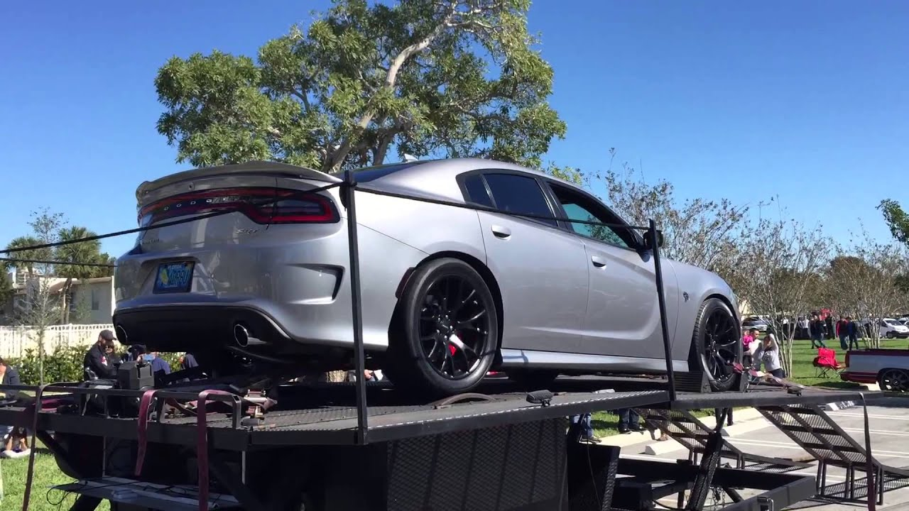 2016 dodge charger hellcat dyno pull at cars coffee palm beach youtube - 2016 Dodge Charger Hellcat Blue