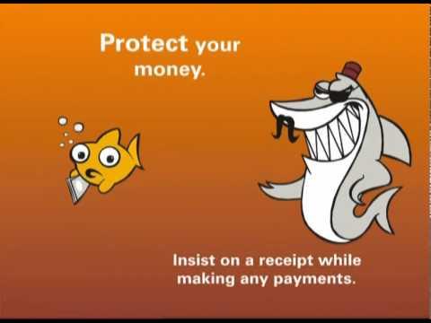 Safe Banking tip - Receipt