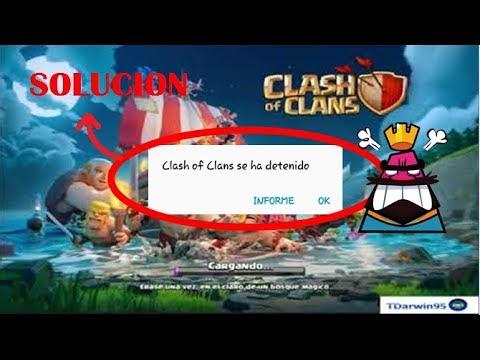Clash of clans o Clash royale se detuvo | SOLUCIÓN al error (la aplicación se detuvo)