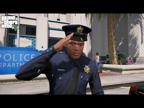 GTA 5 FRANKLIN PLAY AS A COP MOD #1(GTA 5 Police Mod)